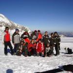 Steir. Landeskader endlich auf Schnee