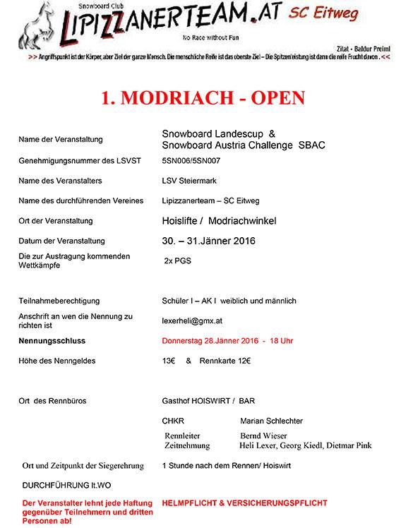 Microsoft Word - Modriach Open 2016 Ausschreibung