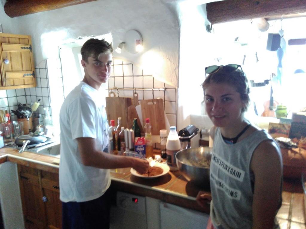 The making of Tiramisu